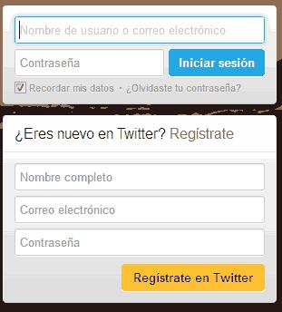 registrarse en twitter