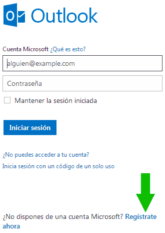 registro hotmail registrate ahora