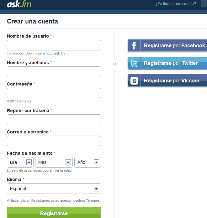 registro en ask.fm
