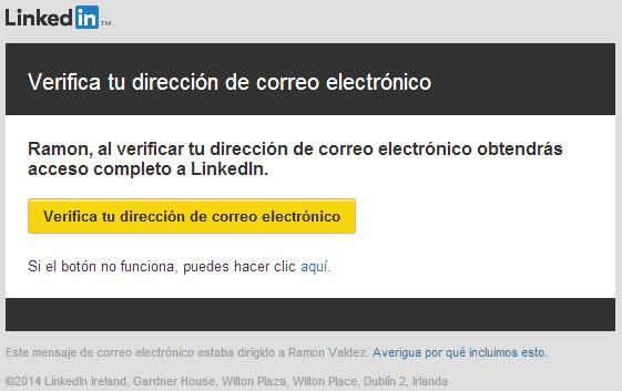 verificar cuenta de linkedin