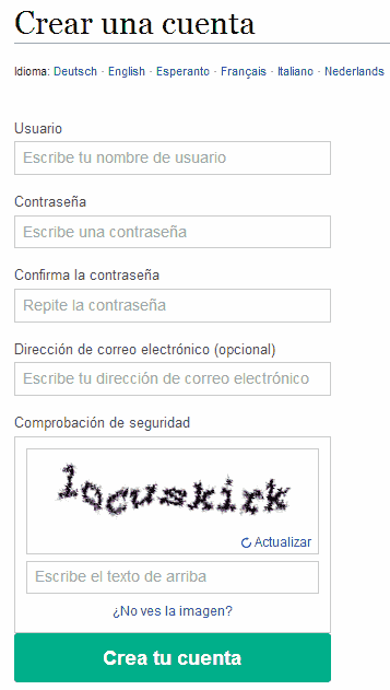 formulario registro wikipedia