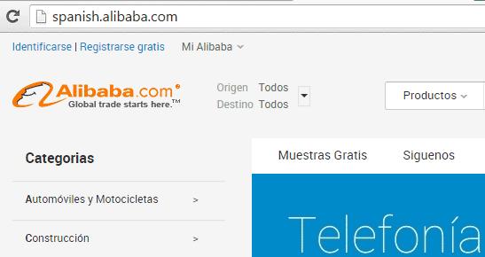 pagina para registrarse en alibaba