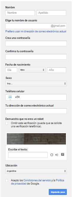 formulario registro en google