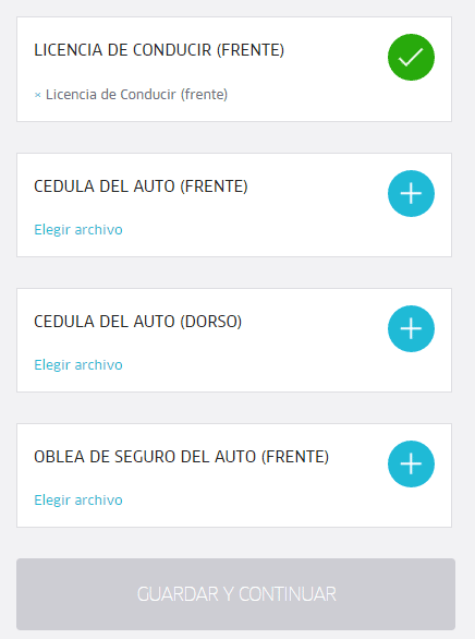 documento para registrarse uber