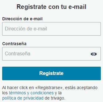 formulario registro trivago